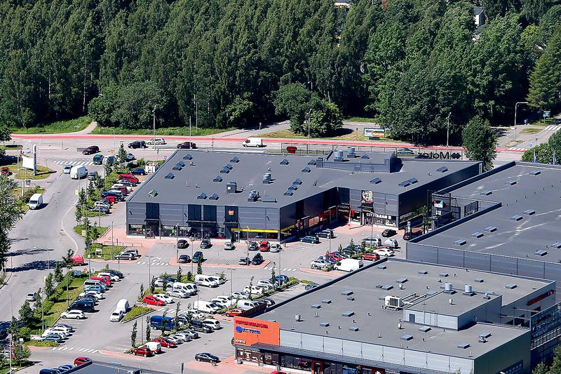 Ilmakuva Motor Center Konalasta, liiketilat Helsinki